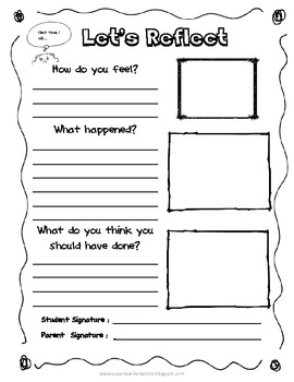 Self Reflection | 4th Grade Reading Comprehension Worksheet