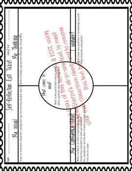 Self-Reflection Exit Ticket