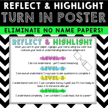 Self-Reflection Highlight-Your-Name Poster {FREEBIE}