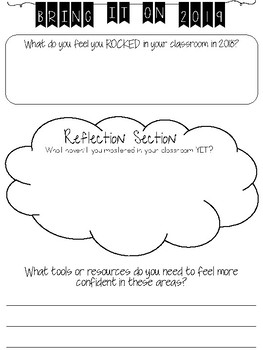 Self-Reflection Sheet for the New Year