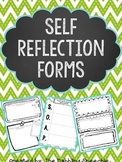 Self Reflection Sheets for SLP's and Educators