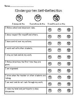Self Reflection for Parent Teacher Conferences