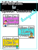 Self-Reflections for Speech Sessions (Hangable) - Multiple Colors
