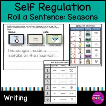 Self Regulation Bundle Roll a Sentence or Story Seasons addition
