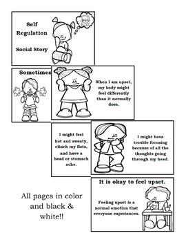 Self-Regulation Calm Down Social Story Positive Behavior Supports Manage Emotion