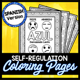 Self Regulation Coloring Pages in SPANISH