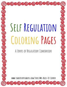 Self Regulation Coloring Sheets - Zones of Regulation Companion