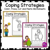 Self Regulation Coping Strategies Coloring Pages Bundle