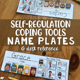 SELF-REGULATION DESK NAME TAGS: Feeling Zones Check-In & Coping Tools Name Plate