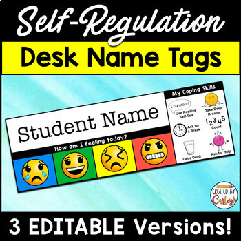Self Regulation Editable Name Tags / Desk Plates
