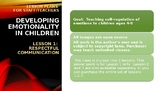 Lesson Plan 1 Developing emotional maturity ages 3-9 Respe