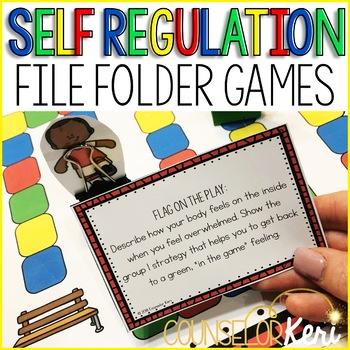 Self Regulation File Folder Counseling Games