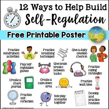 Self-Regulation Free Printable Poster