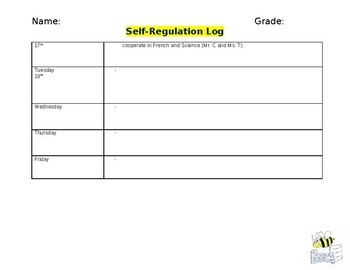 Self-Regulation Log