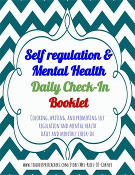 Self Regulation & Mental Health Daily Check-in Booklet- Zones of Regul Companion