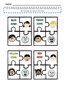 Self-Regulation Puzzle Packet