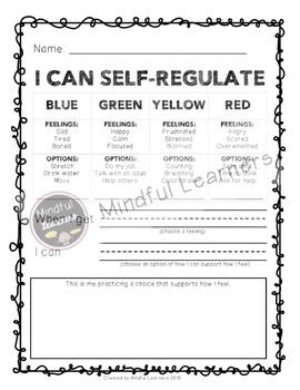 Self-Regulation Reflection- FREEBIE