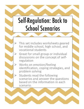 Self-Regulation Scenarios: Back to School Edition