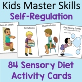 Self-Regulation Sensory Diet Activity Cards