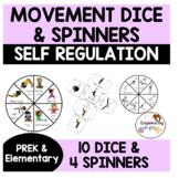 Self Regulation Sensory Motor Strategies 8 Dice 3 Spinners brain break yoga