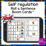 Self Regulation Sentence Writing Boom Cards Distance Learning
