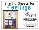 Self-Regulation Sharing Sheets For Feelings