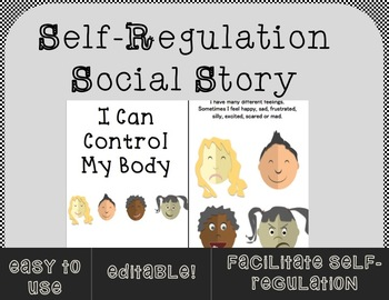 Editable Self-Regulation Social Story