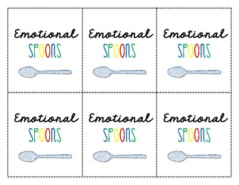 Self-Regulation Spoons - A Review Game of Emotions, Tools and Strategies