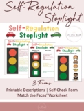Self-Regulation Stoplight Pages | For SEL, Conscious Discipline