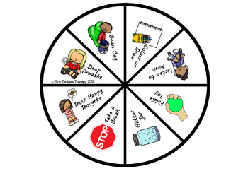 Self Regulation Tools: Self Regulation Coping/Strategy Spinner