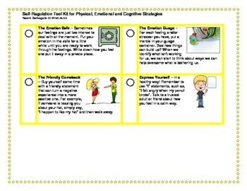 Self-Regulation Tool Kit for Physical, Emotional and Cognitive Strategies