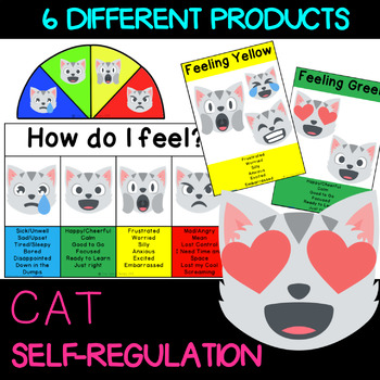 Self Regulation Tools: CAT Emoji Feelings/Emotion pack