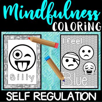 Self Regulation Tools: EMOJI Coloring/Colouring