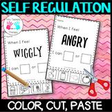 Self Regulation Tools: Color/colour, cut, paste - no prep activity centre