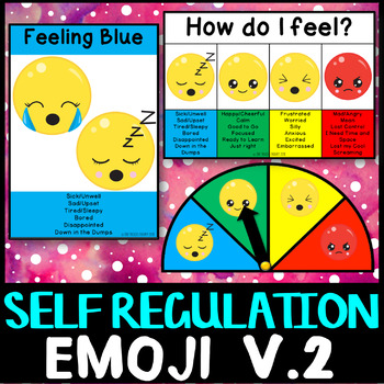 Self Regulation Tools: Emoji Feelings/Emotion pack V2