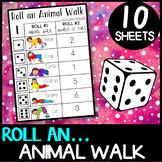 Animal Walks: Roll an animal walk - brain breaks, self regulation, gross motor