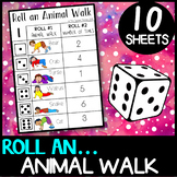 Animal Walks: Roll an animal walk - brain breaks, self reg
