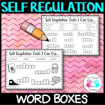 Self Regulation Tools: Wordbox writing - no prep activity centre
