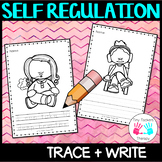 Self Regulation Tools: Trace, write + color/colour - no prep activity centre