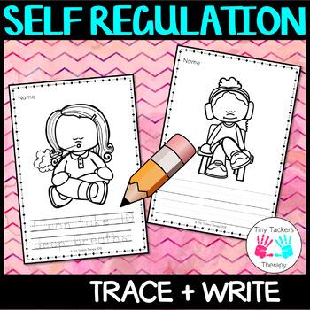 Self Regulation Tools: Trace, write + color/colour - no prep activity centre