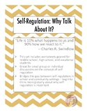 Self-Regulation: Why It's Important to Talk About