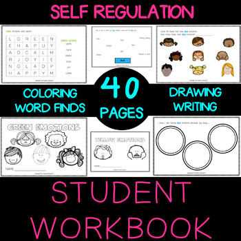 """Self regulation Emotions: Workbook """"Me and My Emotions"""" - Elementary Age"""