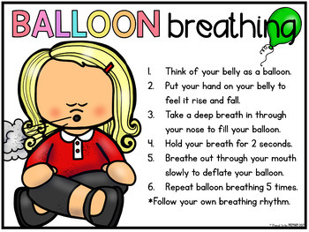 Self-Regulation and Managemen SEL - FREE Balloon Breathing Posters