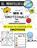 Self Regulation Esteem - Social Emotional Learning zones of regulation Check-in