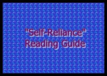 """""""Self-Reliance"""" Reading Guide and Answer Key"""