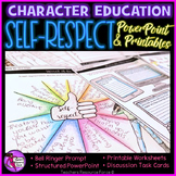 Self-Respect Character Education Values for Health Class