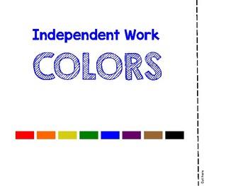 Self-Rewarding Independent Workbook: Colors