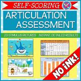 SALE! Self-Scoring Articulation Assessment