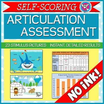 SALE! Self-Scoring Articulation Assessment