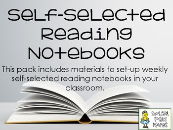 Self-Selected Reading Notebook - Organizational Sheets